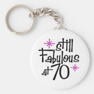 70th Birthday Key Ring