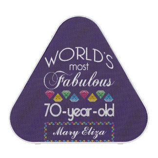 70th Birthday Most Fabulous Colorful Gems Purple Bluetooth Speaker