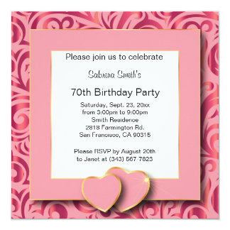 70th Birthday Party | DIY Text Card