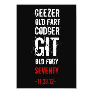 70th Birthday Party Geezer Invitation