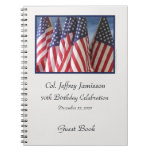 70th Birthday Party Guest Book, Flags