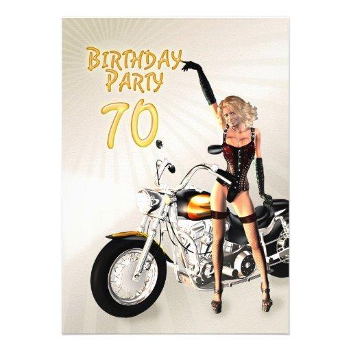 70th Birthday party Invitation