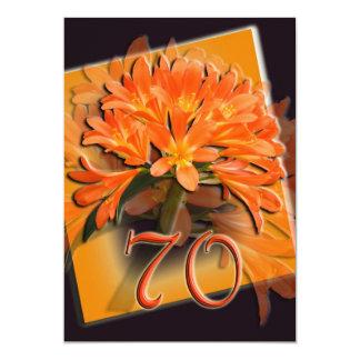 70th Birthday Party Invitation - Hellebores