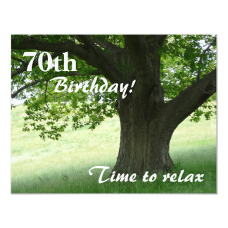 70th Birthday Party-Relax/with Quote Custom Invite