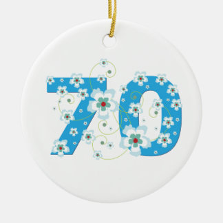 70th birthday personalised name gift ornament