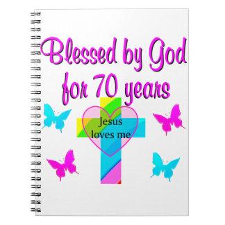 70TH BIRTHDAY PRAYER NOTEBOOK