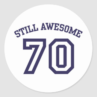 70th Birthday Round Sticker