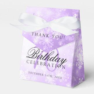 70th Birthday Thank You Purple Winter Wonderland Favour Box