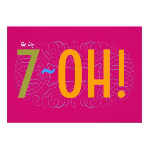 70th Birthday - the Big 7-OH! Invites