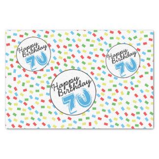 70th Birthday Tissue Paper Festive Colorful