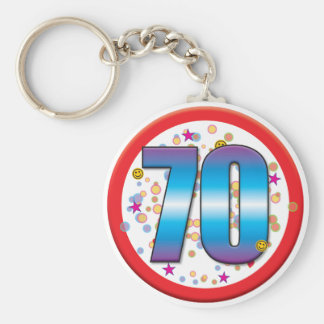 70th Birthday v2 Key Ring