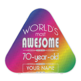 70th Birthday Worlds Best Fabulous Rainbow Speaker