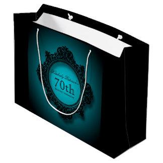 70th Bithday Celebration Personalized Gift Bag Large Gift Bag