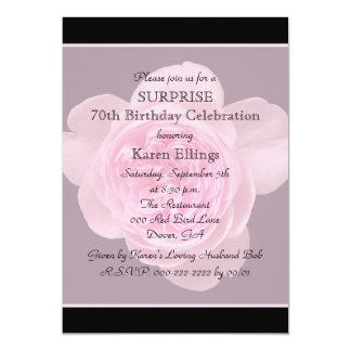 70th Surprise Birthday Party Invitation Rose