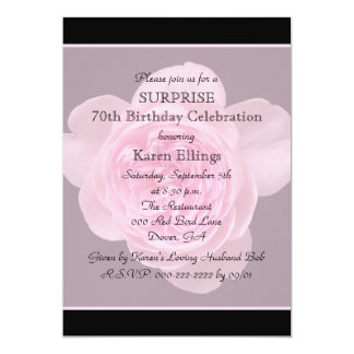 70th Surprise Birthday Party Invitation Rose