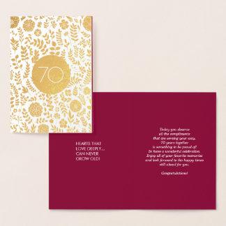 70th Wedding Anniversary Greeting Cards