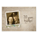 70th Wedding Anniversary Open House 13 Cm X 18 Cm Invitation Card