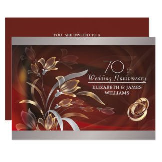 70th Wedding Anniversary Party Invitations