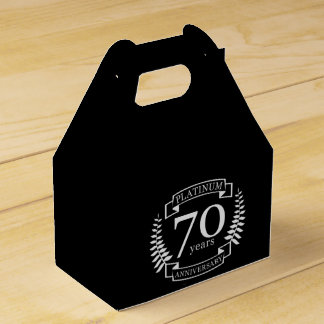 70th Wedding ANNIVERSARY PLATINUM Favour Boxes