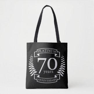 70th Wedding ANNIVERSARY PLATINUM Tote Bag