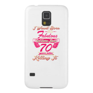 70th year birthday gift party tee shirt galaxy s5 covers