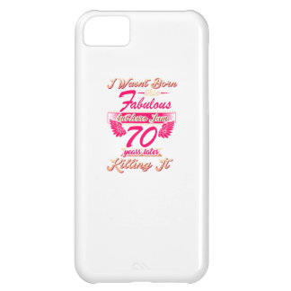 70th year birthday gift party tee shirt iPhone 5C case