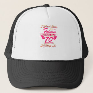 70th year birthday gift party tee shirt trucker hat