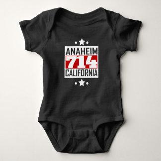 714 Anaheim CA Area Code Baby Bodysuit