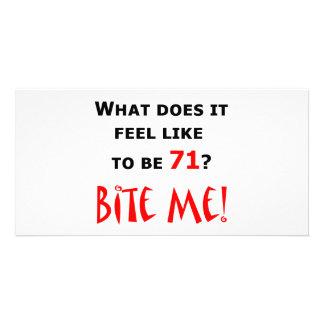 71 Bite Me! Custom Photo Card