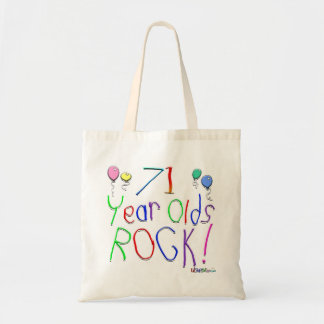 71 Year Olds Rock ! Tote Bag