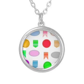 71Icons Set_rasterized Silver Plated Necklace