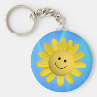 720227 HAPPY SUN FLOWER SMILIE FACE CARTOON GRAPHI KEY RING
