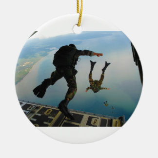 720h Special Tactics Group Jumping Out of Planet Ceramic Ornament