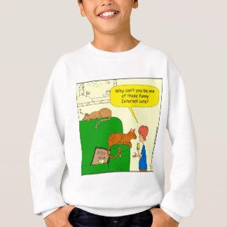 727 Funny internet cat cartoon Sweatshirt