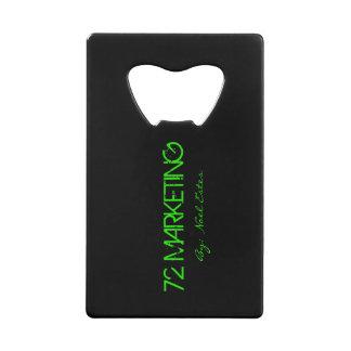 72marketing Credit Card Bottle Opener Wallet Beer