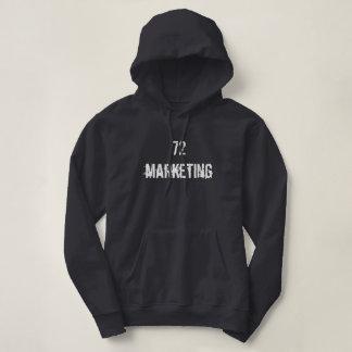 72marketing Logo Hooded Sweatshirt Ladies Warm