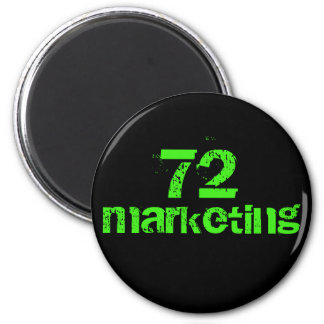 72marketing logo round magnet by noel estes