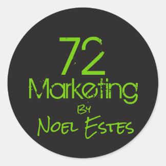 72marketing logo sticker
