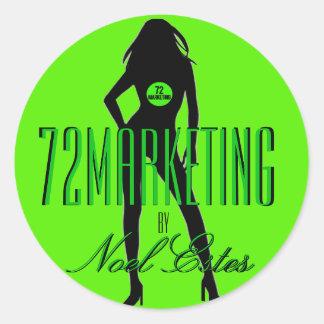 72marketing logo sticker girls silhouette noel
