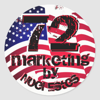 72marketing logo sticker label american flag USA