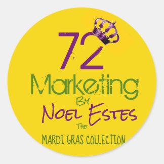 72marketing logo sticker Mardi Gras collection