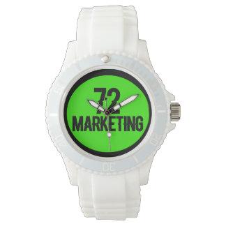 72marketing logo white watch sporty ladies