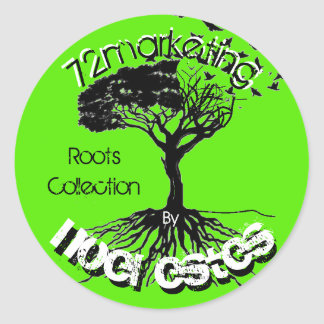 72marketing The Roots Collection Sticker Label