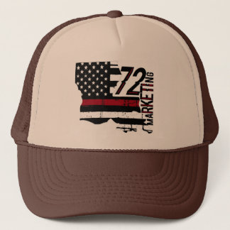72marketing thin red line trucker hat Louisiana