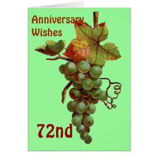 72nd Anniversary wishes, customisable Card
