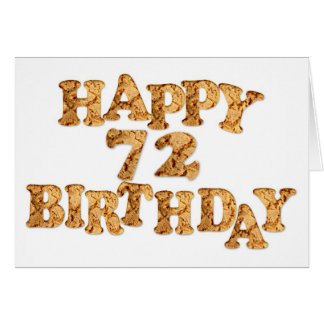 72ndBirthday card for a cookie lover