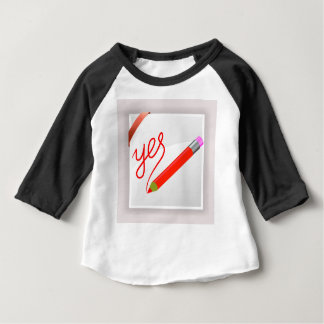 72Red Pencil_rasterized Baby T-Shirt