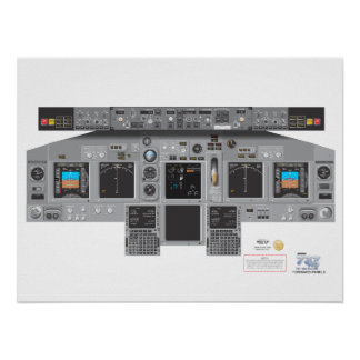 737NG Forward Panel Poster