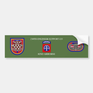 738TH ENGINEER SUPPORT CO 82ND ABN BUMPER STICKER