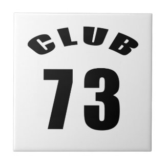 73 Club Birthday Designs Ceramic Tiles